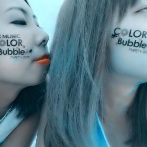 COLOR RUN&Bubble party 2015にてご来場者様へ配布するシールを制作いたしました。-thumbNail
